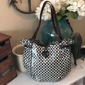 Vera Bradley Frill Oilcloth handbag purse tote 👜